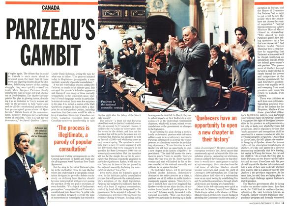 Article Preview: PARIZEAITS GAMBIT, December 1994 | Maclean's