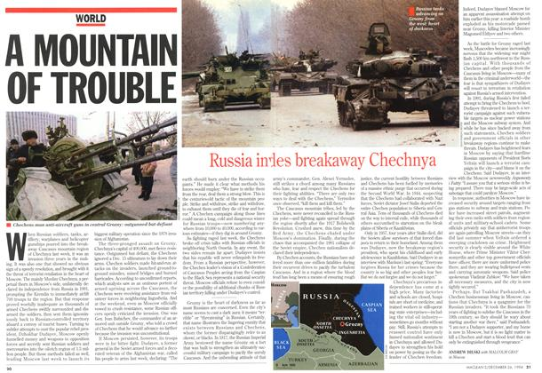 Article Preview: A MOUNTAIN OF TROUBLE, December 1994 | Maclean's