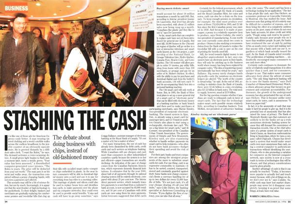 Article Preview: STASHING THE CASH, December 1994 | Maclean's