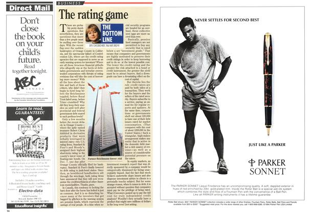Article Preview: The rating game, December 1994 | Maclean's