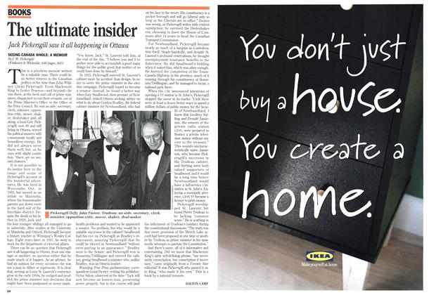 Article Preview: The ultimate insider, December 1994 | Maclean's