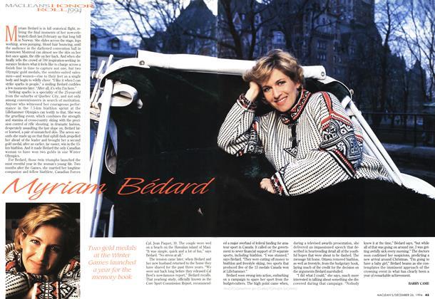 Article Preview: Myriam Bedard, December 1994 | Maclean's