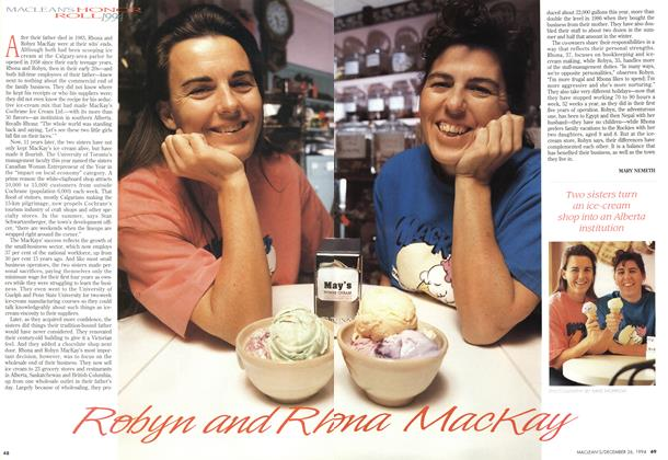 Article Preview: Robyn and Rhona Mackay, December 1994 | Maclean's