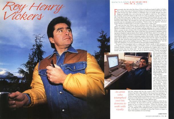 Article Preview: Roy Henry Vickers, December 1994 | Maclean's