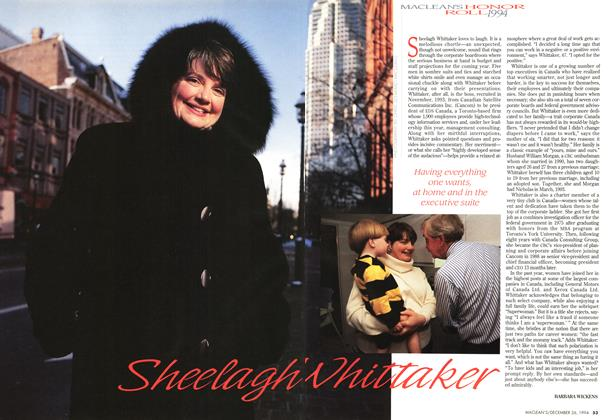 Article Preview: Sheelagh Whittaker, December 1994 | Maclean's