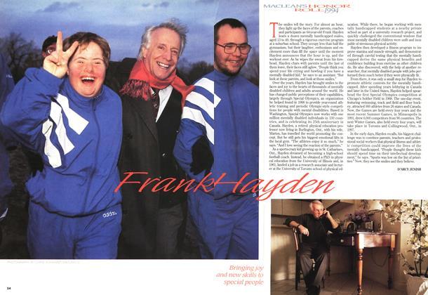 Article Preview: Frank Hayden, December 1994 | Maclean's