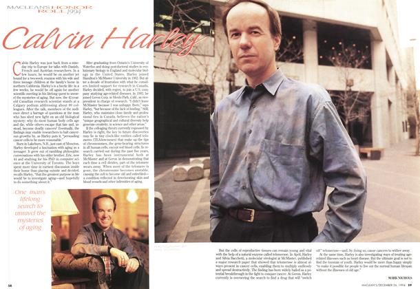 Article Preview: Calvin Harley, December 1994 | Maclean's