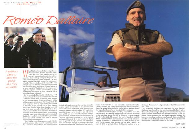 Article Preview: Roméo Dallaire, December 1994 | Maclean's