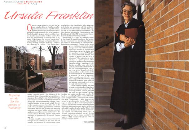 Article Preview: Ursula Franklin, December 1994 | Maclean's