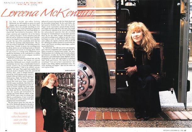Article Preview: Loreena McKennitt, December 1994 | Maclean's