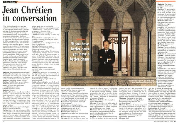 Article Preview: Jean Chrétien in conversation, December 1994 | Maclean's