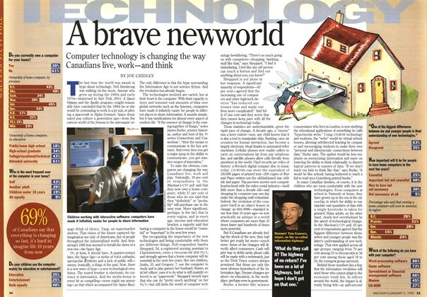 Article Preview: A brave new world, January 1995   Maclean's