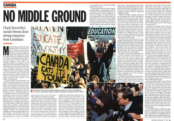Article Preview: NO MDDLE GROUND, January 1995   Maclean's