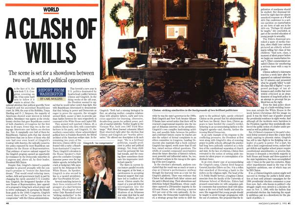 Article Preview: A CLASH OF WILLS, January 1995 | Maclean's