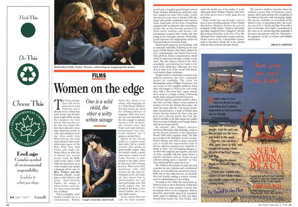 Article Preview: Women on the edge, January 1995 | Maclean's