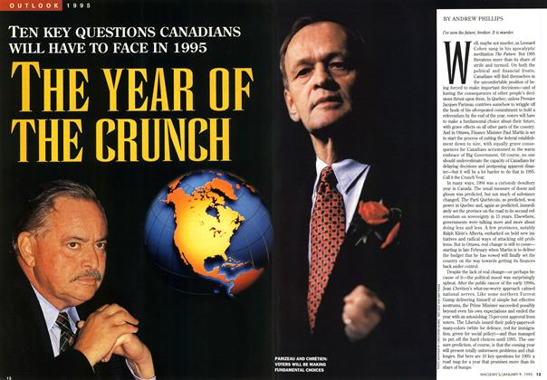 Article Preview: THE YEAR OF THE CRUNCH, January 1995 | Maclean's