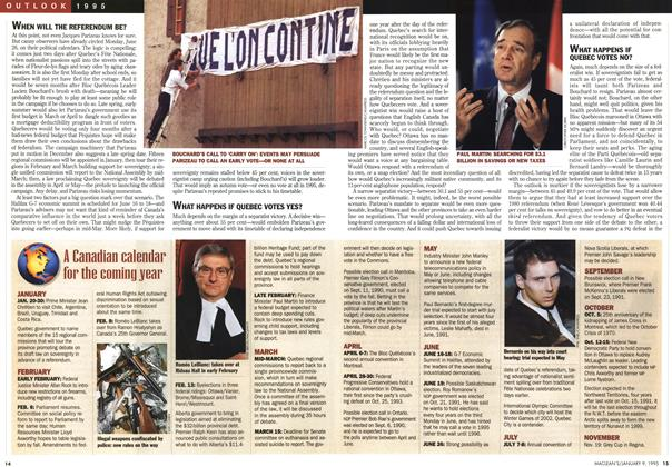 Article Preview: A Canadian calendar for the coming year, January 1995 | Maclean's