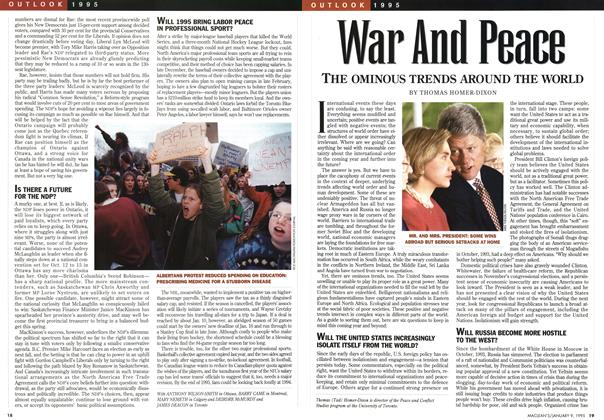Article Preview: War And Peace, January 1995 | Maclean's