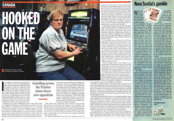 Article Preview: HOOKED ON THE GAME, January 1995 | Maclean's