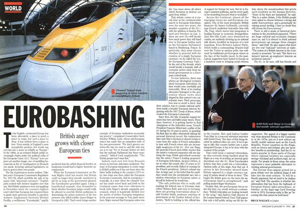 Article Preview: EUROBASHING, January 1995 | Maclean's