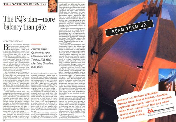 Article Preview: The PQ's plan—more baloney than pâté, January 1995 | Maclean's
