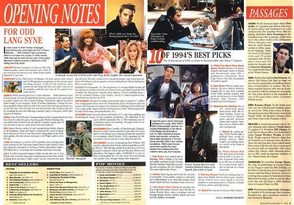 Article Preview: OPENING NOTES, January 1995   Maclean's