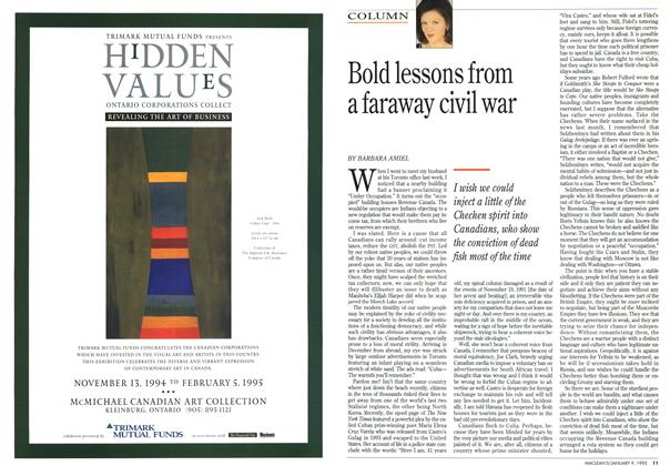 Article Preview: Bold lessons from a faraway civil war, January 1995 | Maclean's