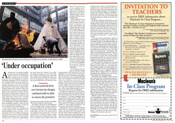 Article Preview: 'Under occupation', January 1995 | Maclean's