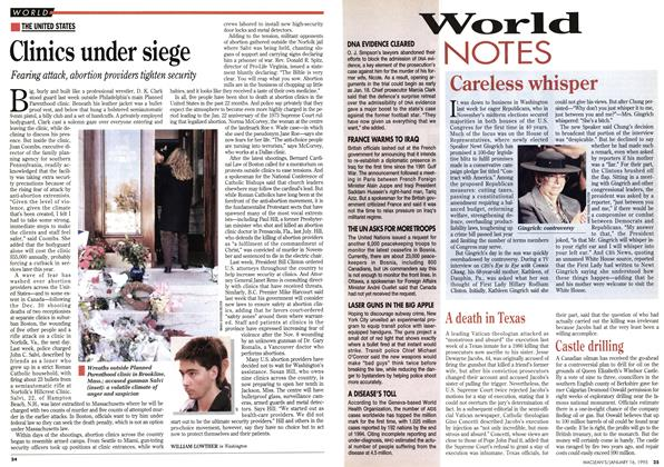 Article Preview: World NOTES, January 1995 | Maclean's