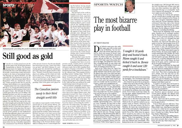 Article Preview: The most bizarre play in football, January 1995 | Maclean's