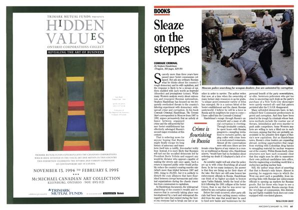 Article Preview: Sleaze on the steppes, January 1995 | Maclean's
