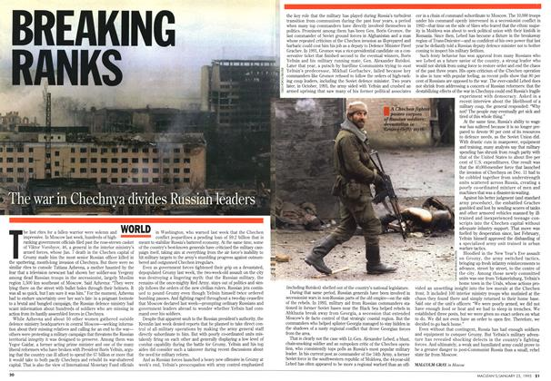 Article Preview: BREAKING RANKS, January 1995 | Maclean's