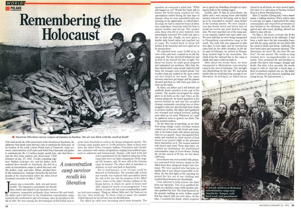 Article Preview: Remembering the Holocaust, January 1995 | Maclean's