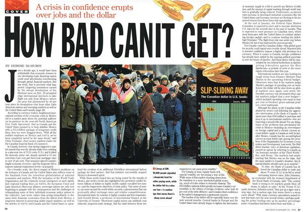 Article Preview: HOW BAD CAN IT GET?, January 1995 | Maclean's