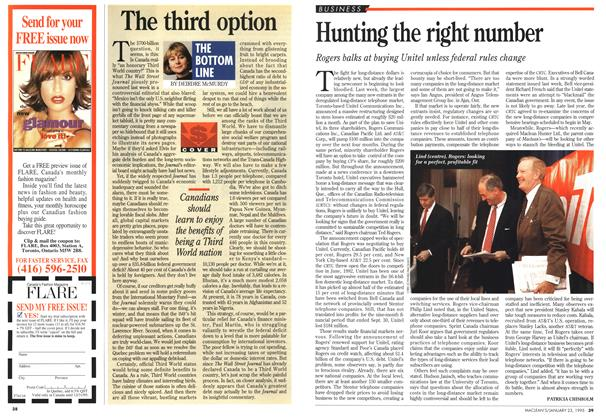 Article Preview: Hunting the right number, January 1995 | Maclean's