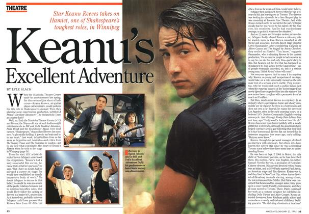 Article Preview: Keanu's Excellent Adventure, January 1995 | Maclean's