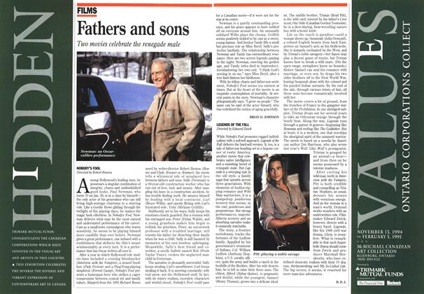 Article Preview: Fathers and sons, January 1995 | Maclean's