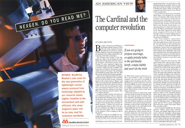 Article Preview: The Cardinal and the computer revolution, January 1995 | Maclean's