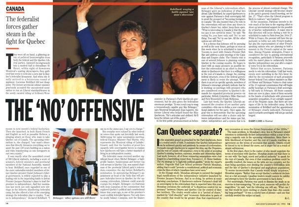 Article Preview: THE 'NO' OFFENSIVE, January 1995 | Maclean's