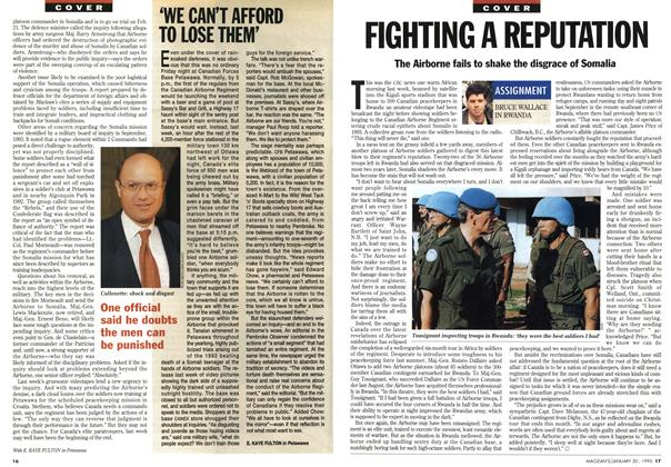 Article Preview: FIGHTING A REPUTATION, January 1995 | Maclean's