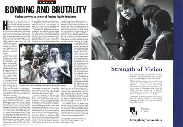 Article Preview: BONDING AND BRUTALITY, January 1995 | Maclean's