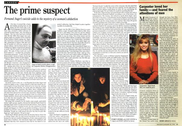 Article Preview: The prime suspect, January 1995 | Maclean's