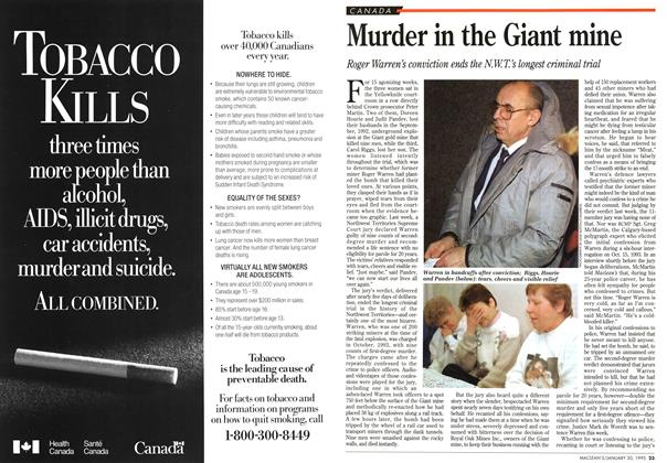 Article Preview: Murder in the Giant mine, January 1995 | Maclean's