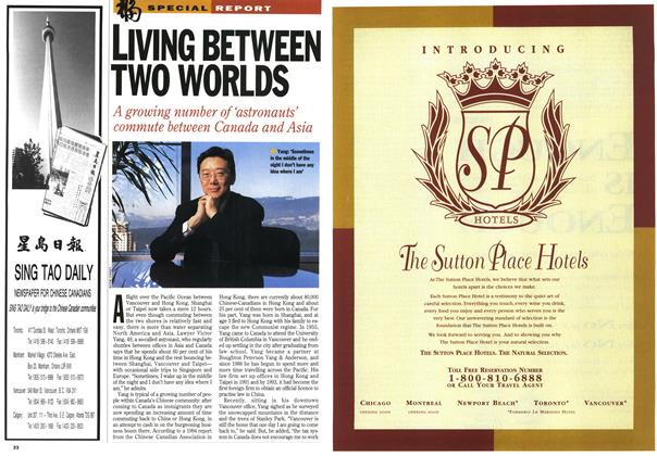 Article Preview: LIVING BETWEEN TWO WORLDS, January 1995 | Maclean's