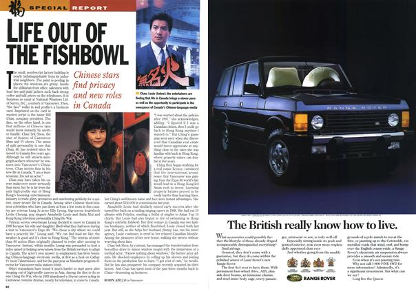 Article Preview: LIFE OUT OF THE FISHBOWL, January 1995 | Maclean's