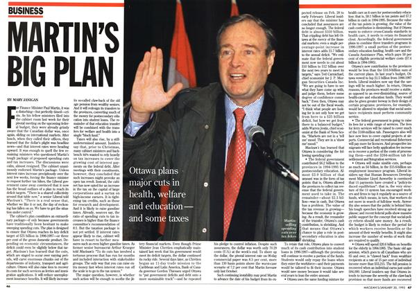 Article Preview: MARTIN'S BIG PLAN, January 1995 | Maclean's