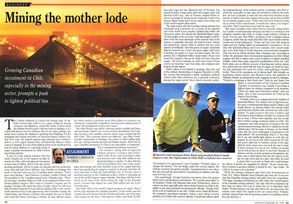 Article Preview: Mining the mother lode, January 1995 | Maclean's