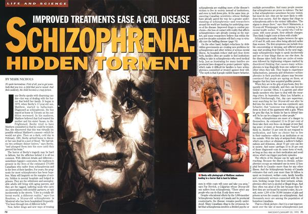 Article Preview: IMPROVED TREATMENTS EASE A CRL DISEASE SCHIZOPHRENIA HIDDEN TORMENT, January 1995 | Maclean's