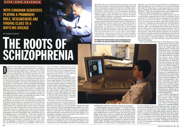 Article Preview: THE ROOTS OF SCHIZOPHRENIA, January 1995 | Maclean's