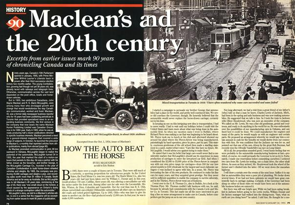 Article Preview: HOW THE AUTO BEAT THE HORSE, January 1995 | Maclean's